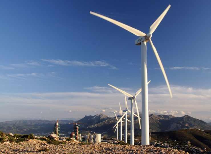 Parc éolien de l'usine de Tétouan (Ciment-Maroc).