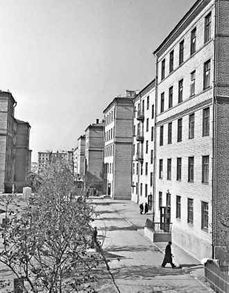 Krouchtchovki à Moscou. Immeuble de l'époque Khroutchtchev