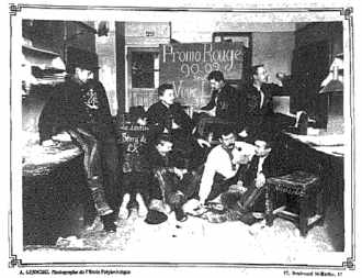 """Une """"salle"""" de l'école polytechnique en 1900"""