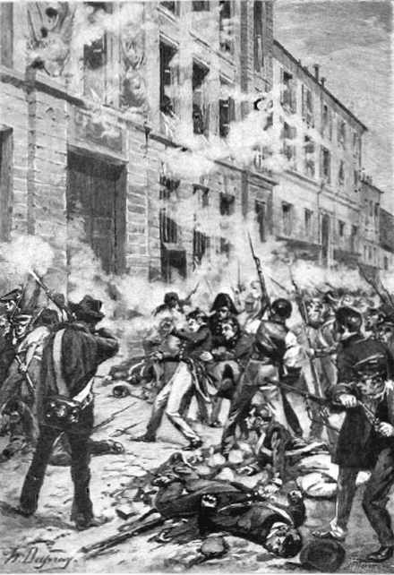 La mort de Vaneau, polytechnicien, en 1830