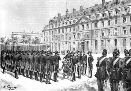 La revue du Prince Impérial (14 mai 1868) à l'école polytechnique