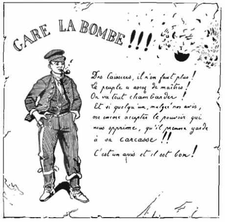Un topo anarchiste vers 1880.