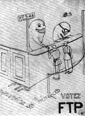 Votrz FTP élections Kès 1948 à l'école polytechnique