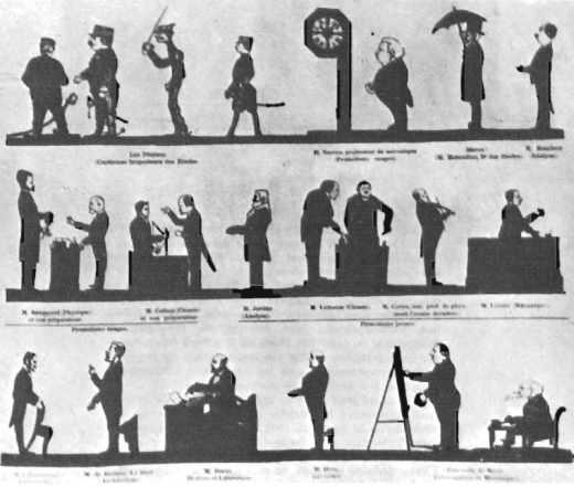 Une séance d'ombres en 1903, à l'école polytechnique