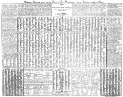 <le premier annuaire (1827) des élèves de l'école polytechnique