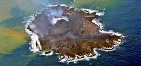 Eruption volcanique en mer