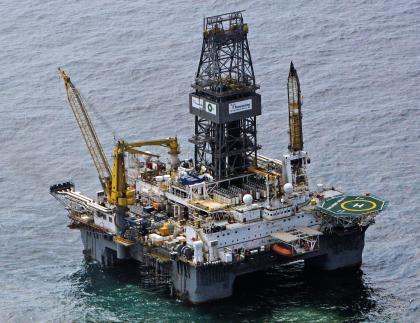 Plateforme offshore au large de Houston.