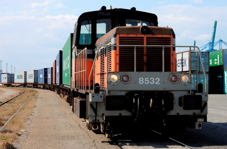 Transport de conteneurs par voie ferrée