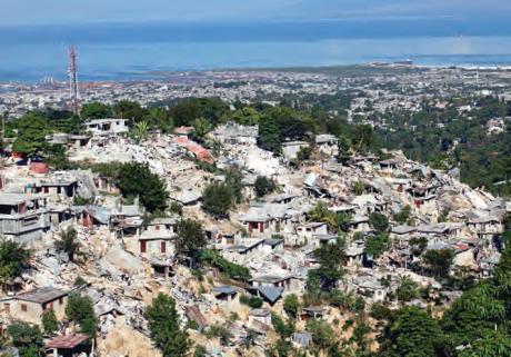 Tremblement de terre à Port-au-Prince en 2010.