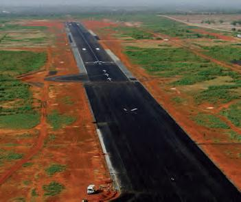 Piste de l'aéroport de Bamako au Mali.