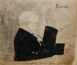 Dessin de Maurice Etienne Martin Lecomte (X 1910 ; 1891-1914), représentant Georges Duruy