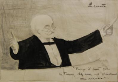 :Dessin de Maurice Etienne Martin Lecomte (X 1910 ; 1891-1914), représentant Georges Duruy
