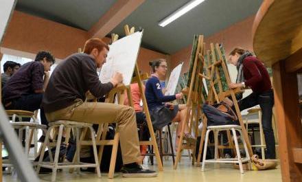 Cours de dessin à l'Ecole polytechnique