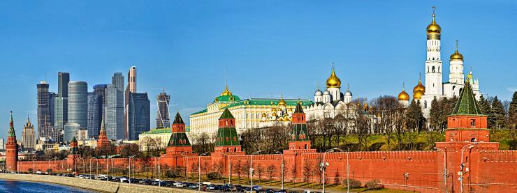 Le Kremlin et l'International Business Center à Moscou