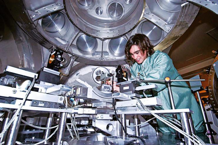 Expérience astrophysique en laboratoire