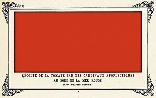 Tableau rouge d'Alphonse ALLAIS