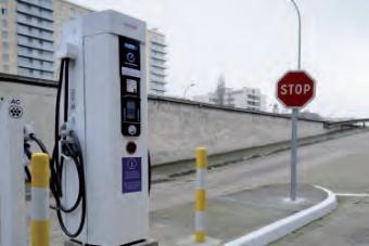 Borne de recharge de véhicule électrique
