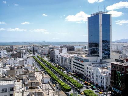 Tunis, avenue Habib-Bourguiba.