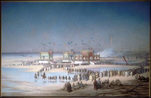 Cérémonie d'inauguration du canal de Suez, tableau d'Édouard Riou