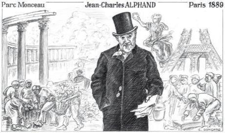 Alphand (1835), nommé par Haussmann ingénieur en chef au service des Promenades et Plantations de Paris