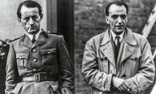 Pascal Pia et André Malraux.