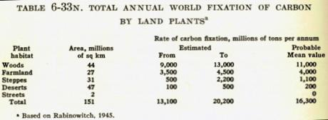 Fixation du carbone par les plantes