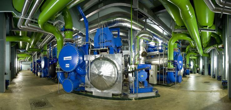 Centrale de production de froid (Société Climespace) au Palais de Tokyo