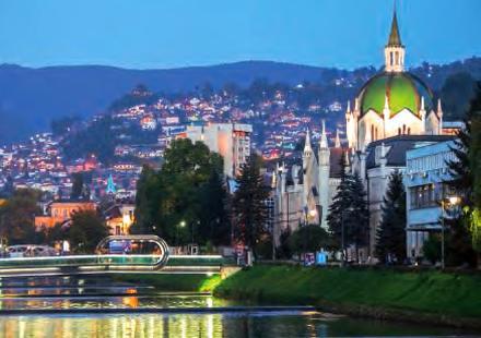 L'école des Beaux-Arts de Sarajevo.