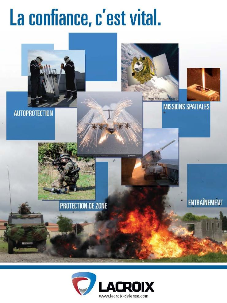 Page de publicité pour LACROIX-défense
