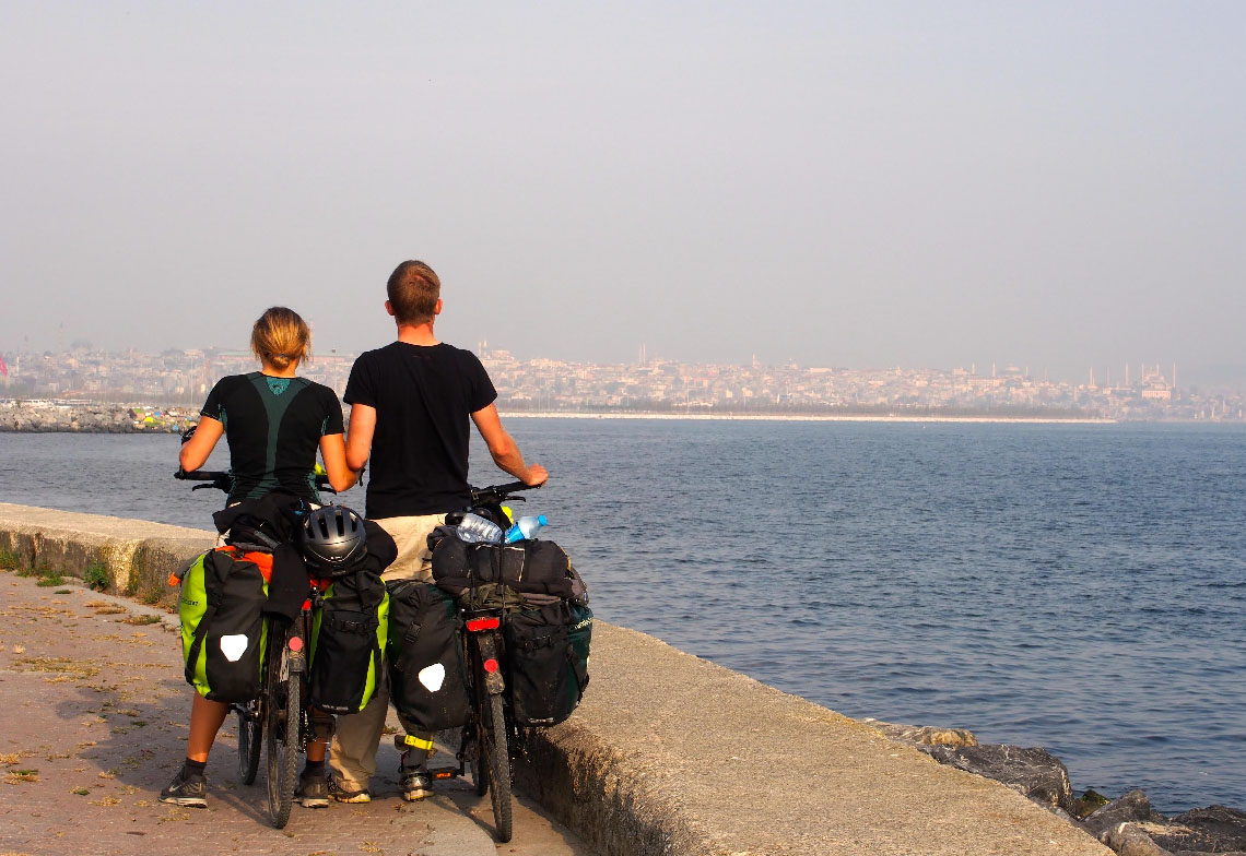 Arrivée à Istanbul en vélo