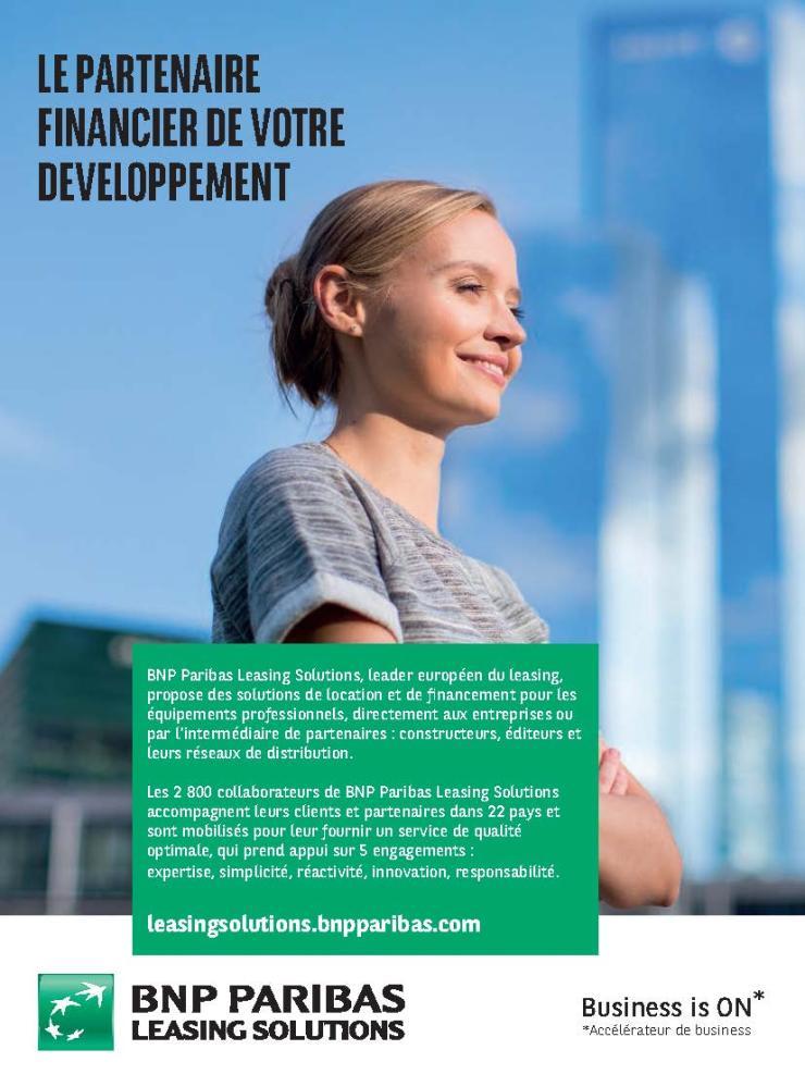 Publicité leasing solutions DE bnp-paribas