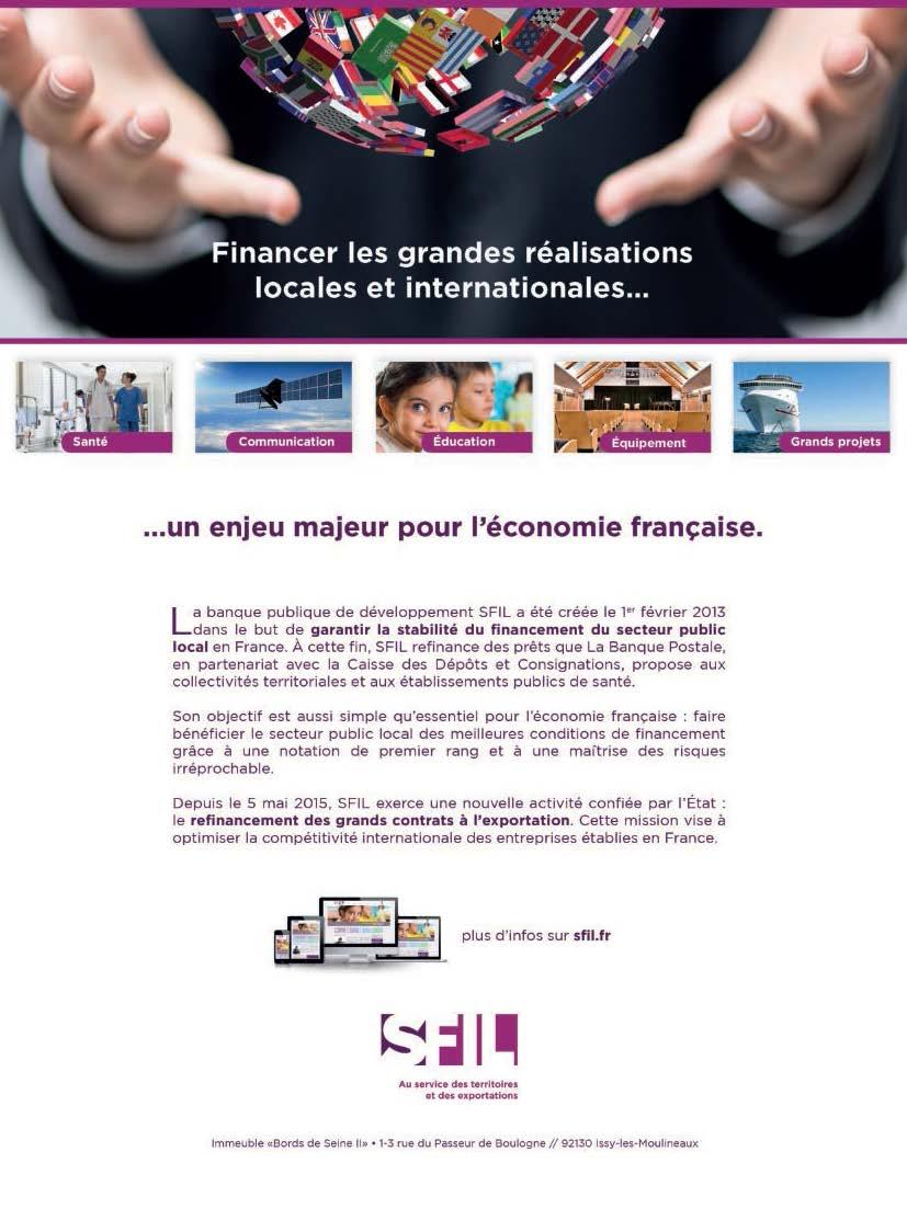 Publicité pour la banque publique SFIL