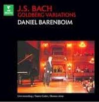 CD : Les variations Goldberg par Daniel Barenboïm