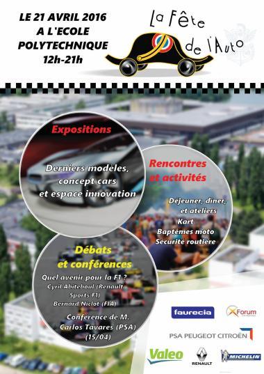 Affiche pour la fête de l'auto à l'Ecole polytechnique