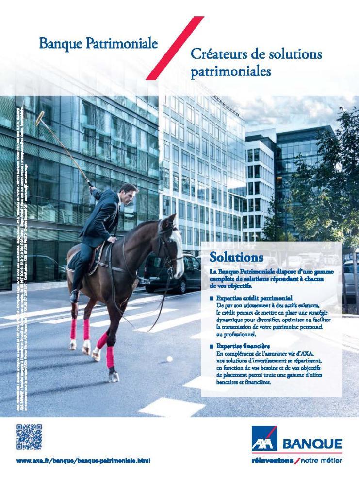 Publicité AXA Banque patrimoniale
