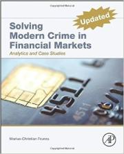 Livre : SOLVING MODERN CRIME IN FINANCIAL MARKETS par Marius-Christian Frunza (2000)