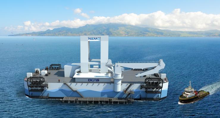 Projet DCNS de centrale flottante NEMO au large de la Martinique
