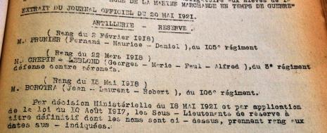 Citation de Jean BOROTRA au Journal Officiel