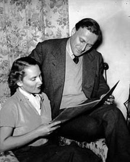 Yehudi Menuhin et sa soeur Hephzibah en Australie en 1951.