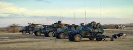 Véhicules militaires français au Mali