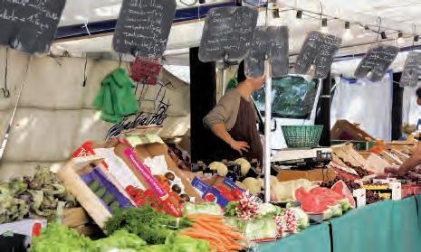 Un étal de marché