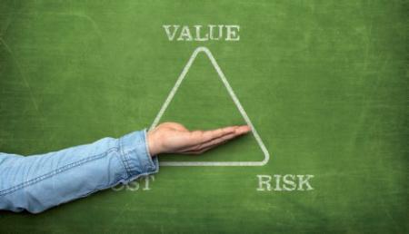 Hésitation entre le risque et la valeur
