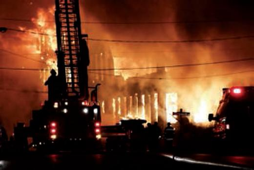 Pendant un incendie