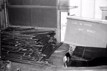 Amphitéatre ARAGO démonté à l'École polytechnique