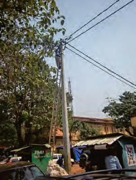 Montage d'un réseau numérique en Afrique