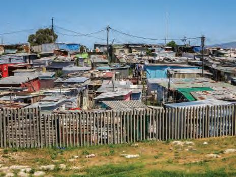 Bidonville en Afrique