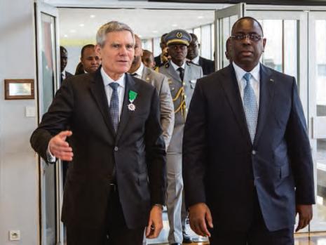 Macky Sall, Président de la République du Sénégal, en visite à l'X
