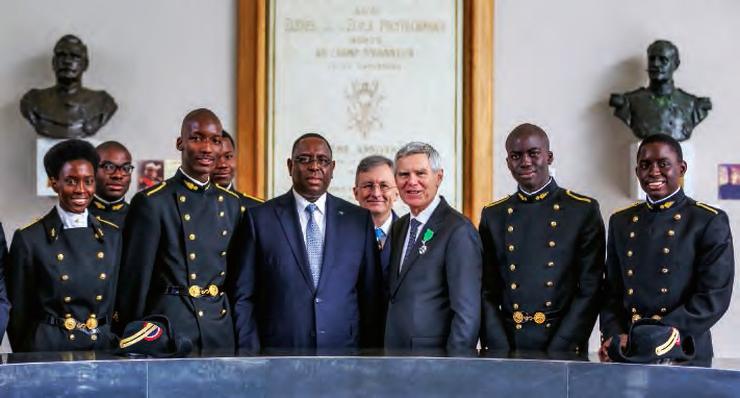 Le Président de la République du Sénégal, Macky Sall, à l'École polytechnique le 2 décembre 2015