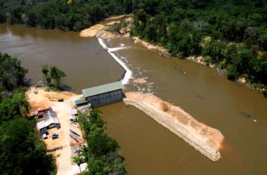Centrale hydroélectrique de Mana (5,4 MW) – Guyane.