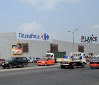 Centre commercial Carrefour-Playce à Abidjan